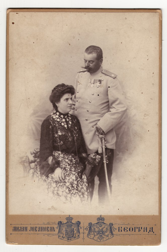Studio portrait of Milena and Kosta Popović, © Museum of Applied Art