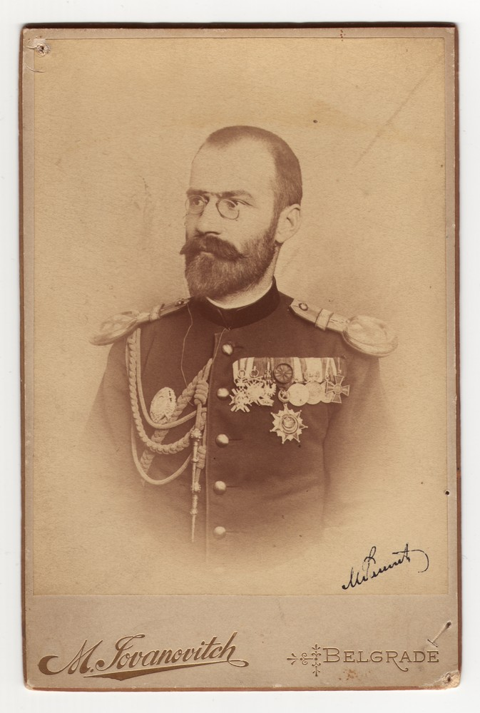 Studio portrait of Major Mihajlo Rašić, © Museum of Applied Art