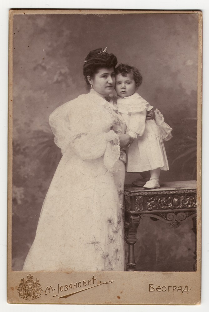 Studio portrait of a woman and a child, © Museum of Applied Art