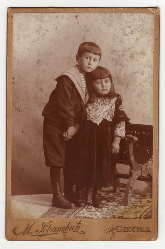 Studio portrait of a boy and a girl, © Museum of Applied Art
