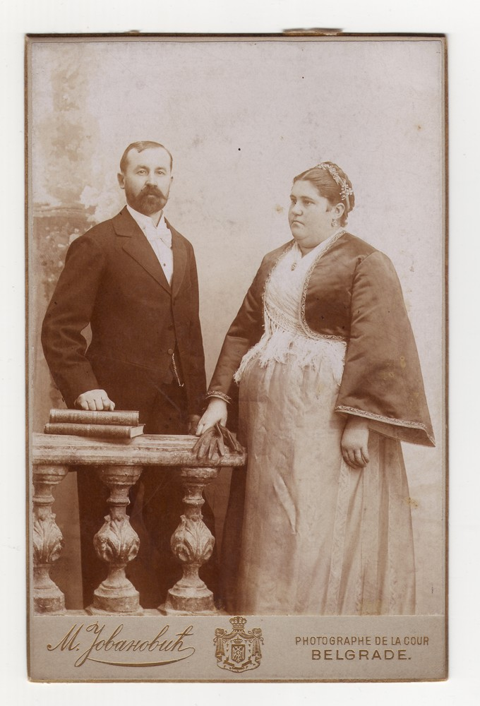 Studio portrait of Sava and Danica, © Museum of Applied Art
