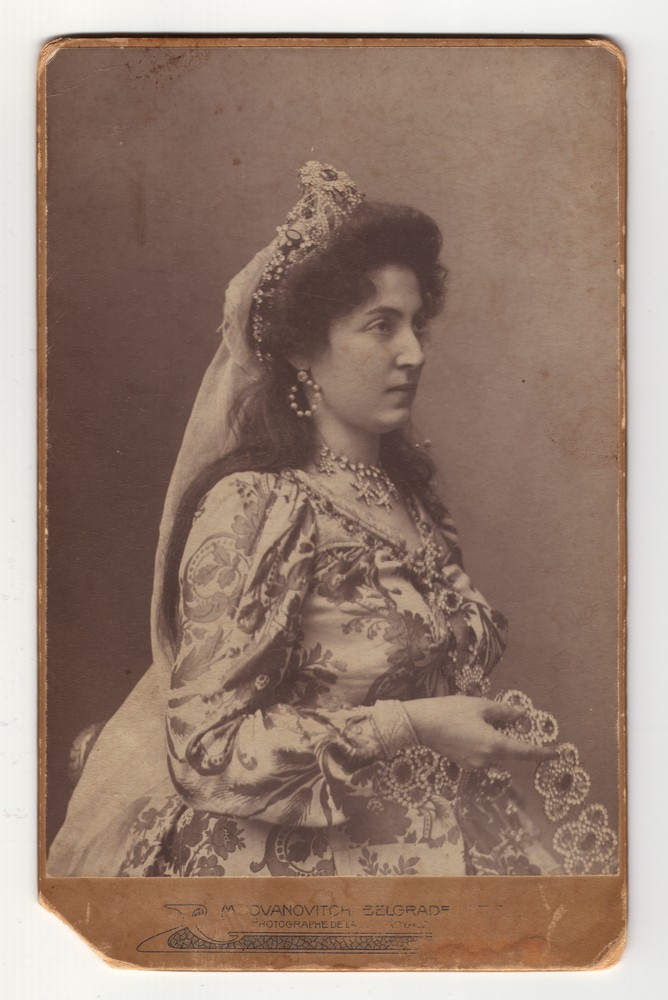 Studio portrait of Milica Radovanović, © Museum of Applied Art