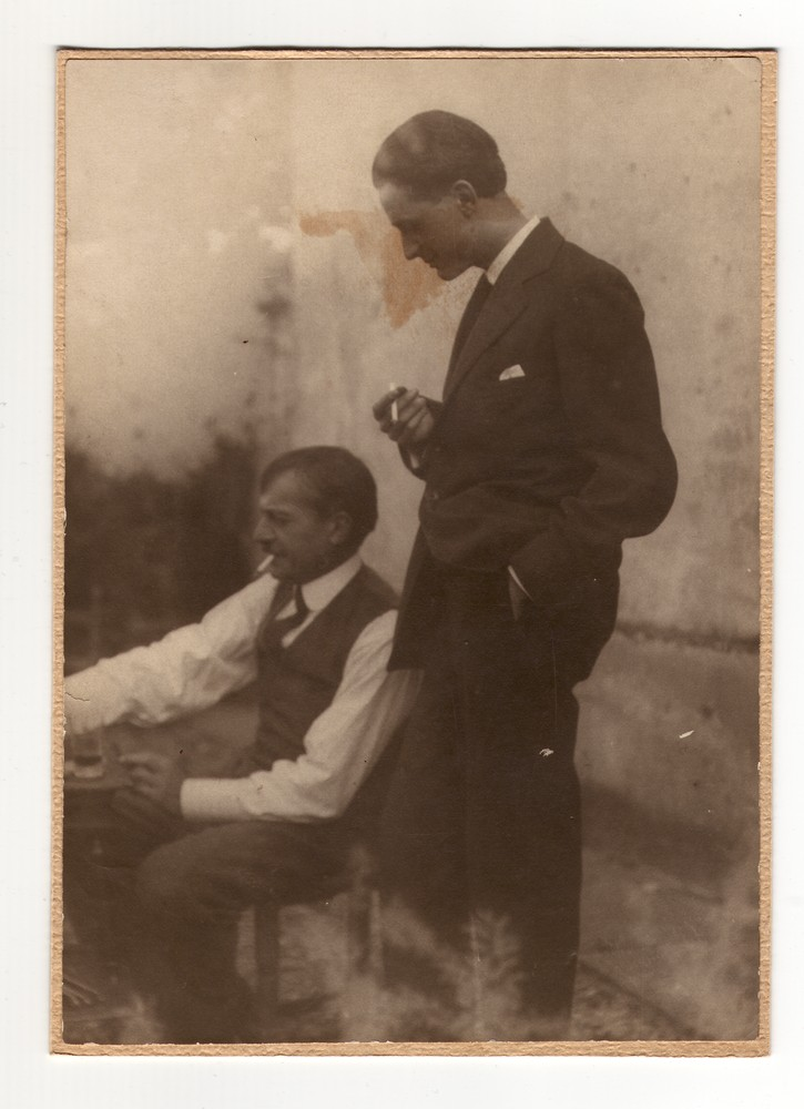 Milan Jovanović and his son Dušan at Milan's house, © Museum of Applied Art