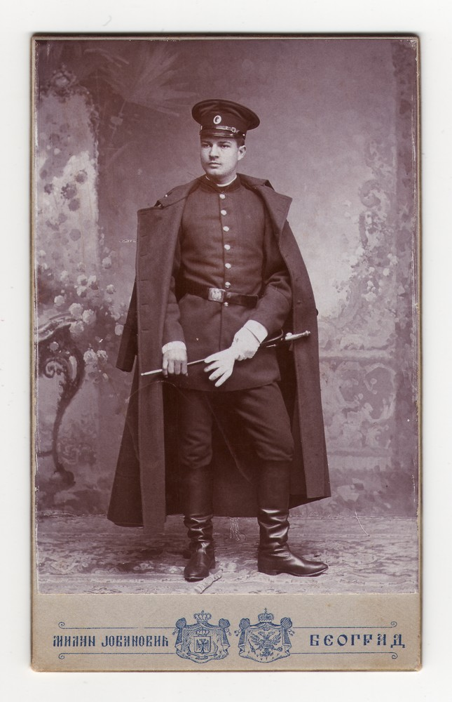 Studio portrait of young Officer Mile, © Museum of Applied Art