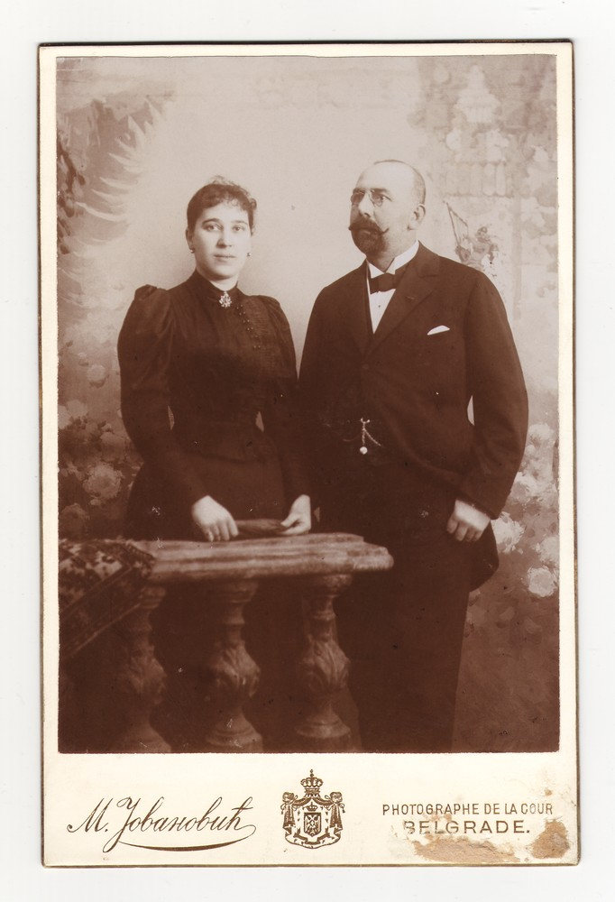 Studio portrait of Milan and Ljubica Hadži Popović, © Museum of Applied Art