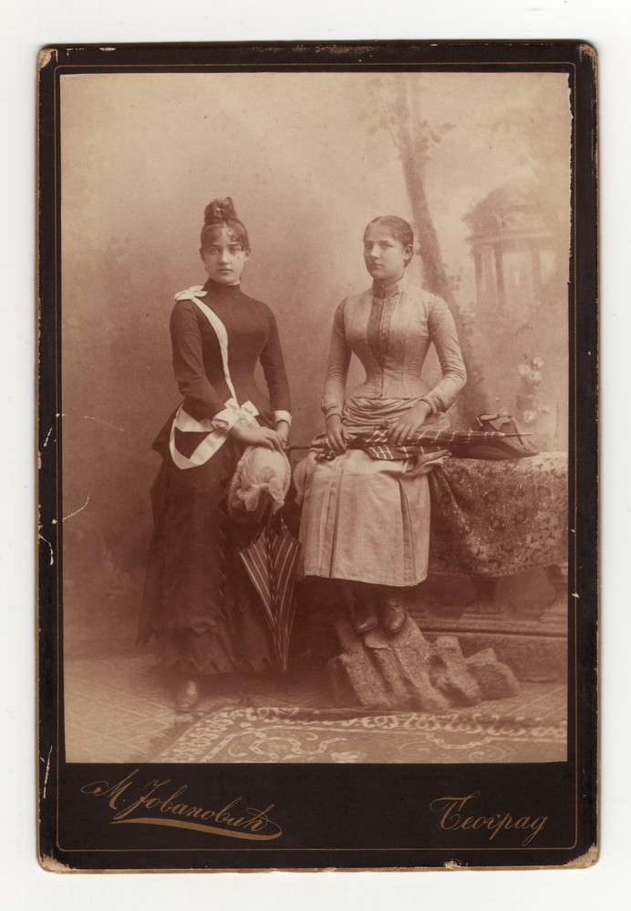Studio portrait of two ladies, © Museum of Applied Art