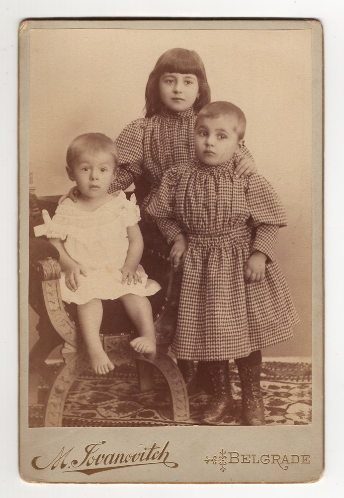 Studio portrait of three children, © Museum of Applied Art