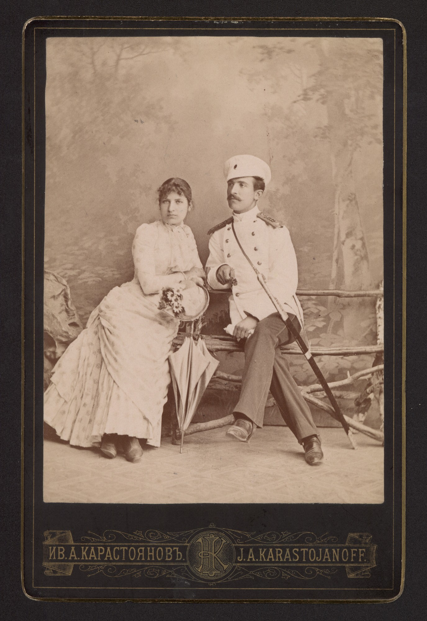 Studio portrait of Velika and Nikifor Nikiforovi, © Central State Archives