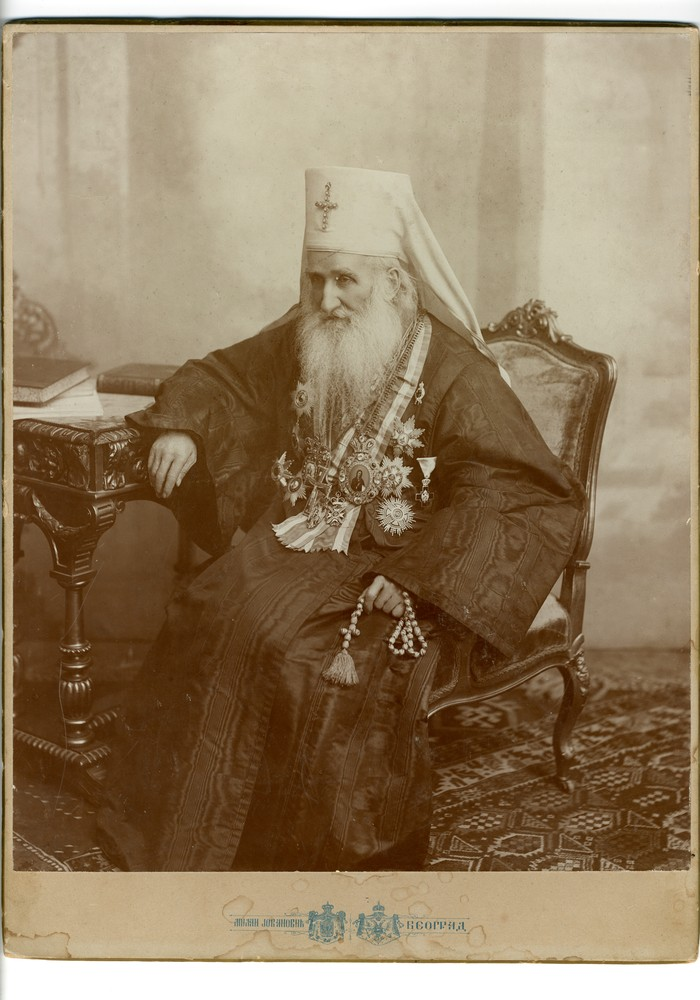 Studio portrait of Mihailo, Serbian Metropolitan and Archbishop of Belgrade, © Museum of Applied Art