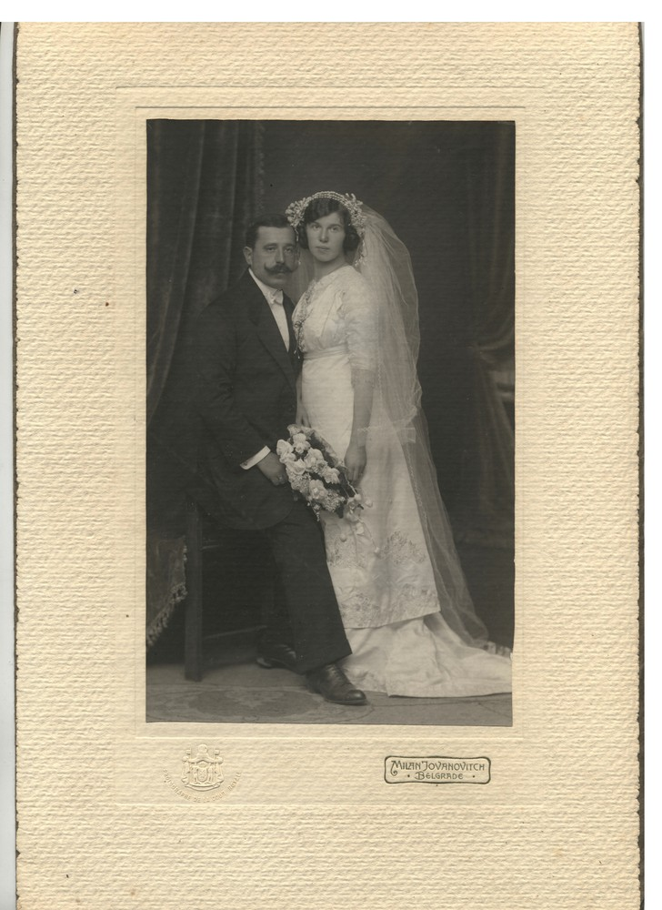Wedding portrait of Ruža and Miloš, © Miloš Jurišić