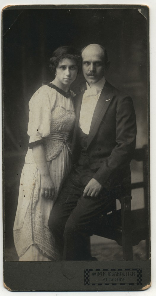 Studio portrait of Gila and Bogoljub, © Miloš Jurišić