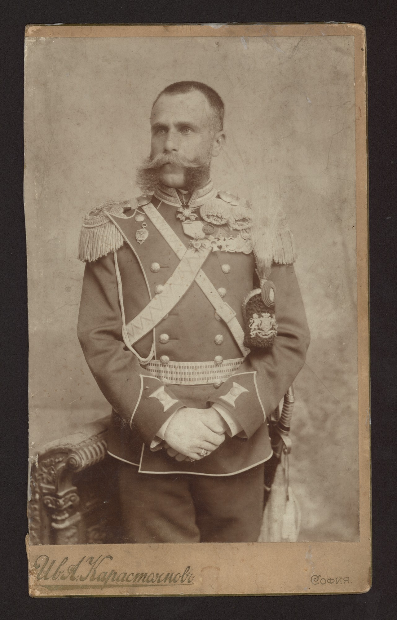 Studio portrait of Colonel Veliko Kardzhiev, © Central State Archives