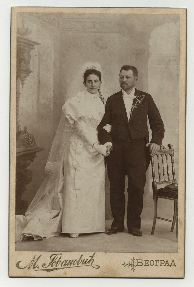 Wedding photograph of an unknown couple, © Miloš Jurišić