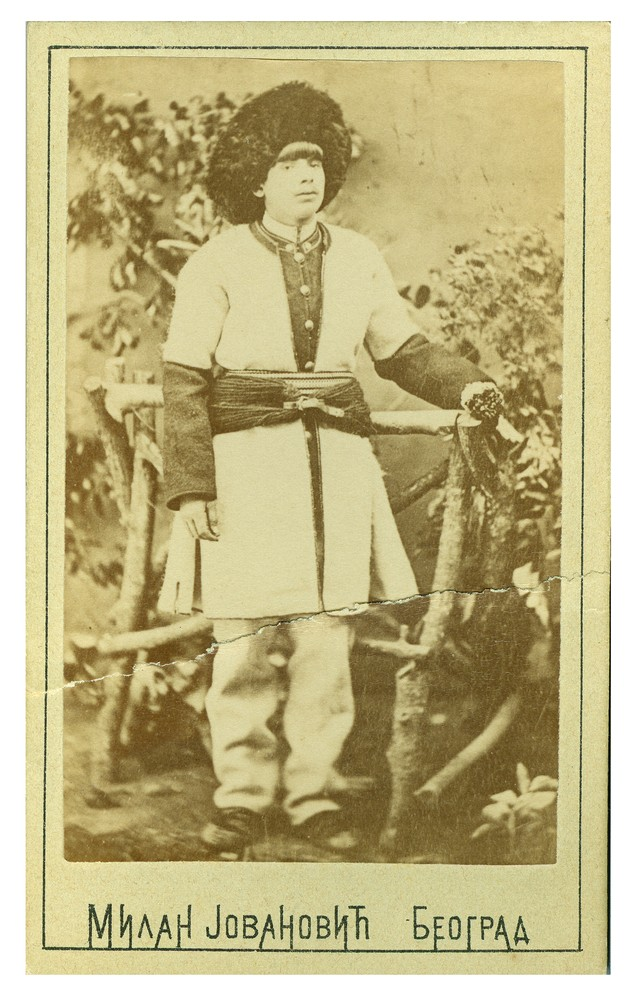 Studio portrait of a man in Vlach folk dress, © Ethnographic Museum in Belgrade