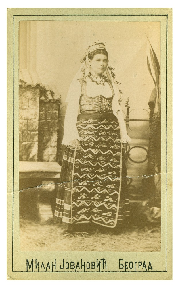 Studio portrait of a woman in folk dress from Požarevac, © Ethnographic Museum in Belgrade