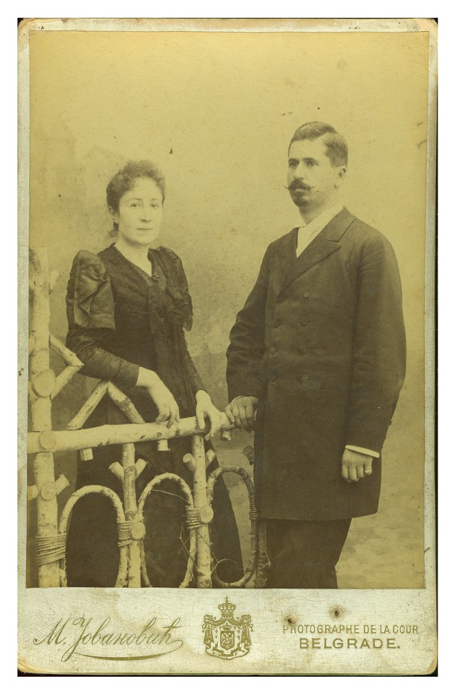 Studio portrait of Mica and Ilija, © Ethnographic Museum in Belgrade