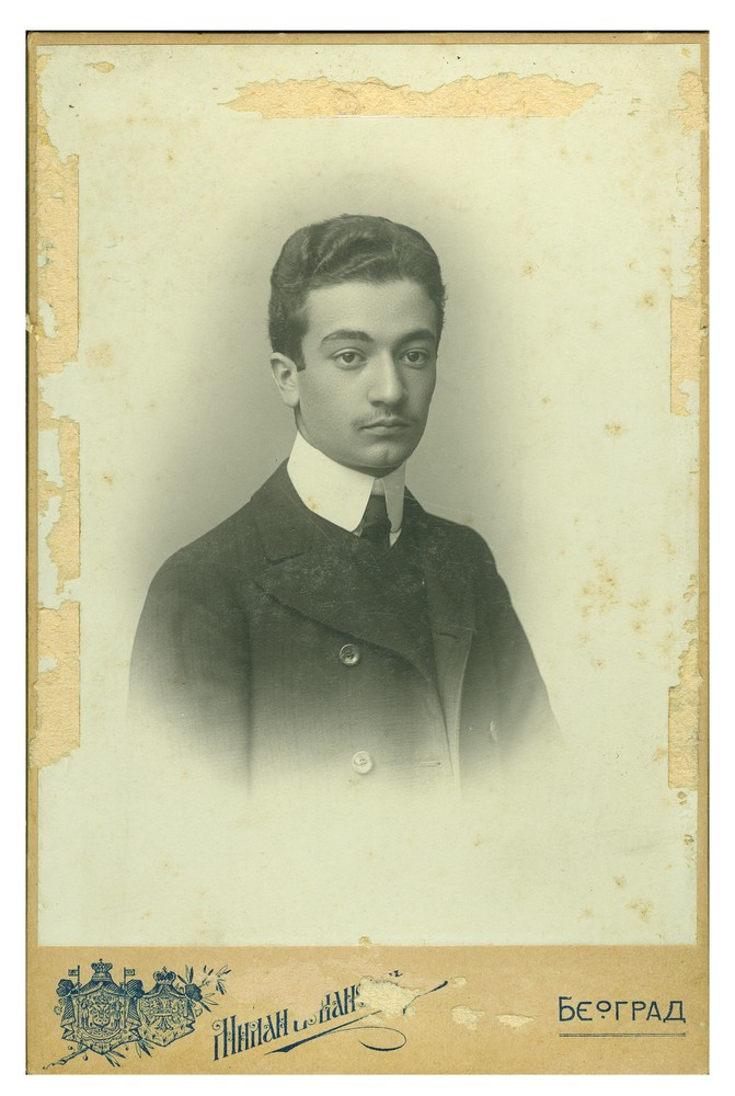 Studio portrait of Jovan Naumović, © Ethnographic Museum in Belgrade
