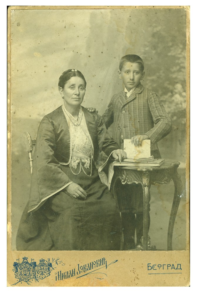 Studio portrait of a woman and a boy, © Ethnographic Museum in Belgrade