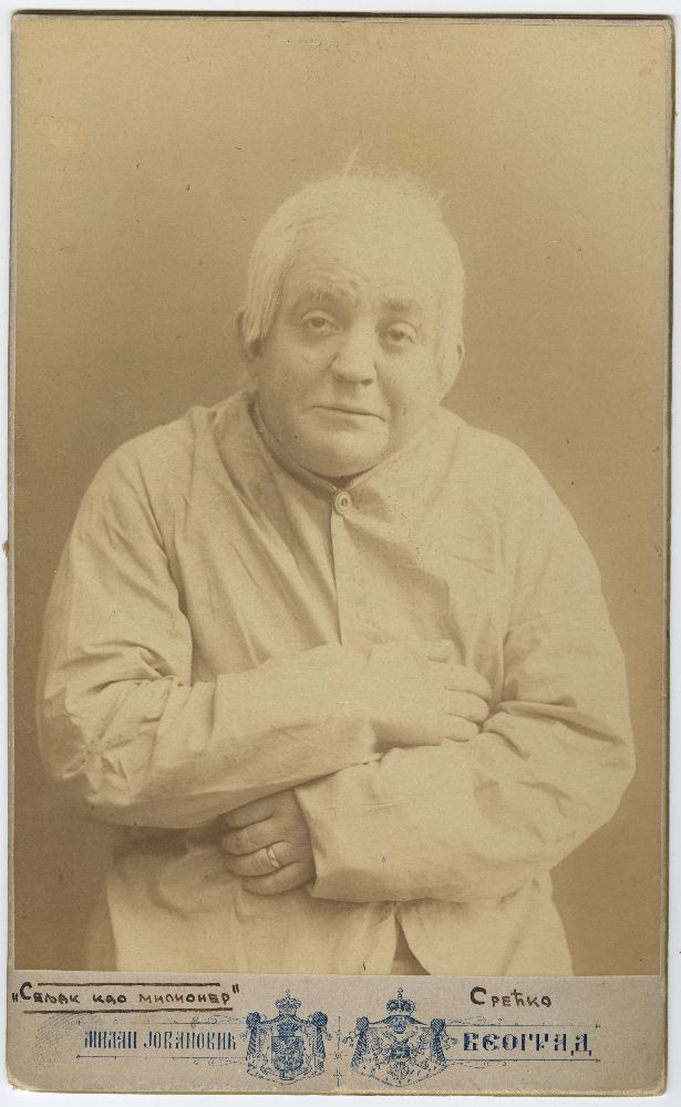 Studio portrait of Pera Dobrinović as 'Srećko Korenić', © Museum of Theater Art of Serbia