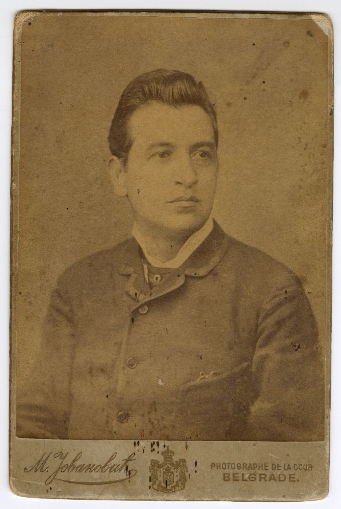 Studio portrait of Toša Jovanović, © Museum of Theater Art of Serbia