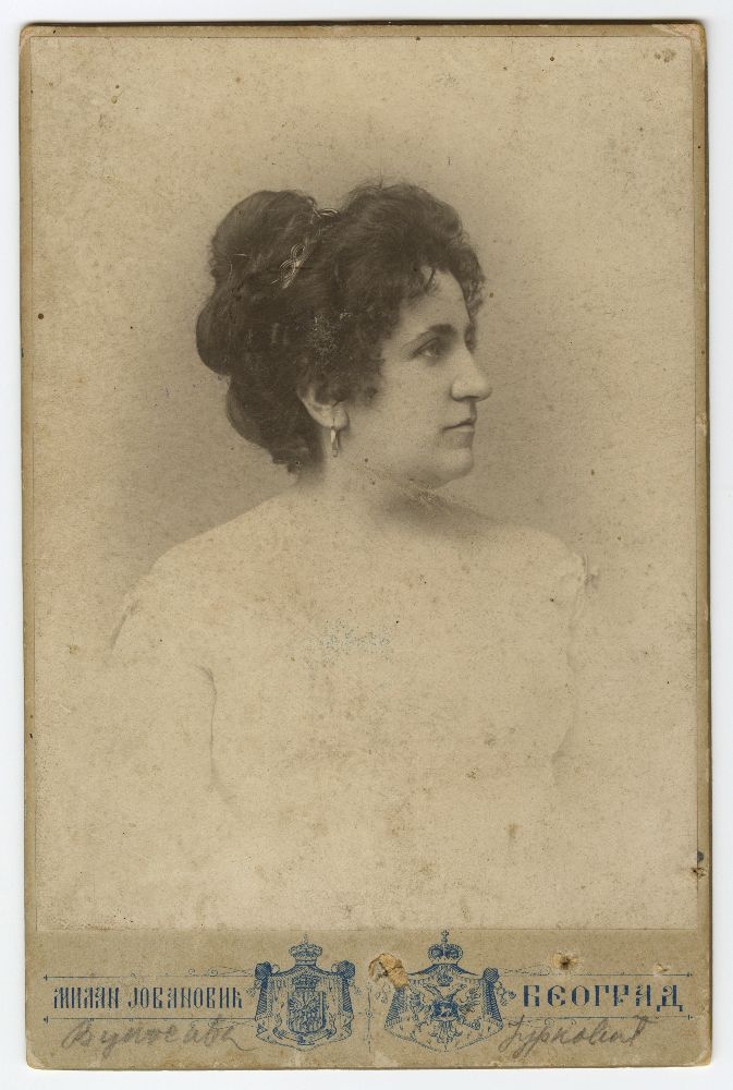 Studio portrait of actress Vukosava Jurković, © Museum of Theater Art of Serbia