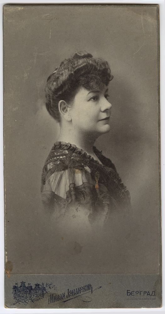 Studio portrait of actress Zorka Todosić, © Museum of Theater Art of Serbia