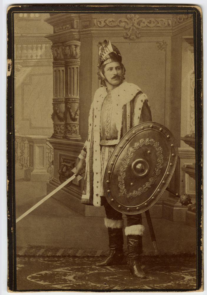 Studio portrait of Miloš Cvetić in character as 'Stefan Nemanja', © Museum of Theater Art of Serbia