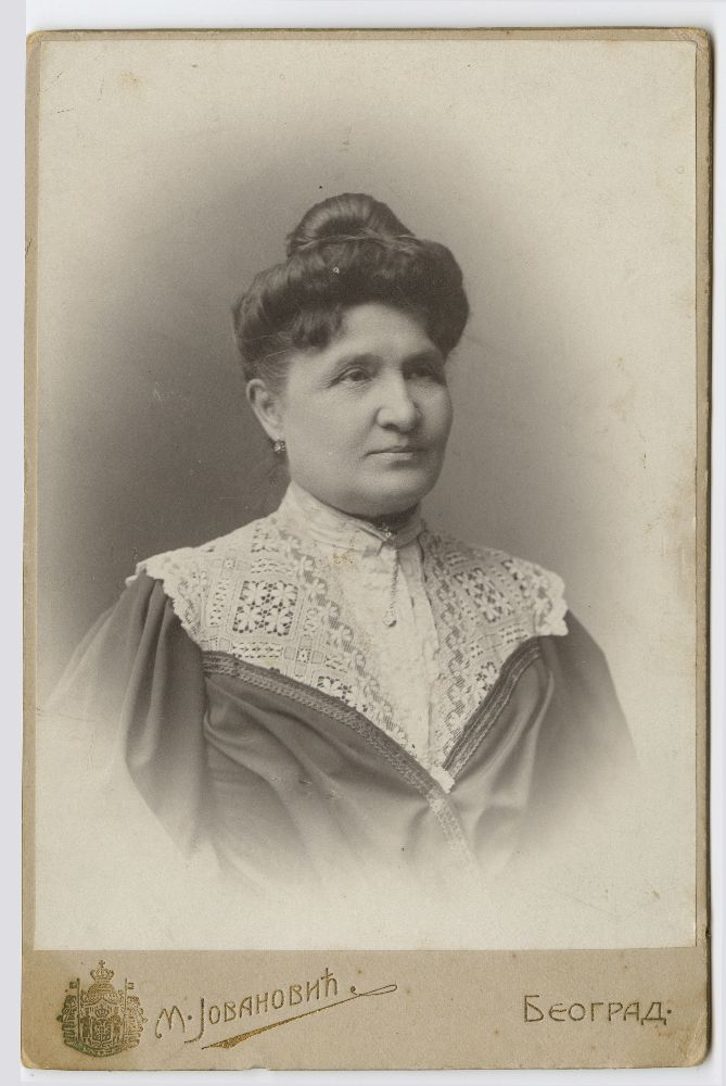Studio portrait of Mileva Tošić, © Museum of Theater Art of Serbia