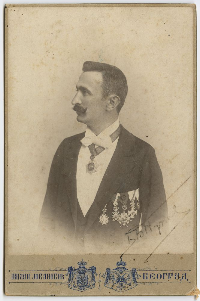 Studio portrait of Branislav Nušić, © Museum of Theater Art of Serbia