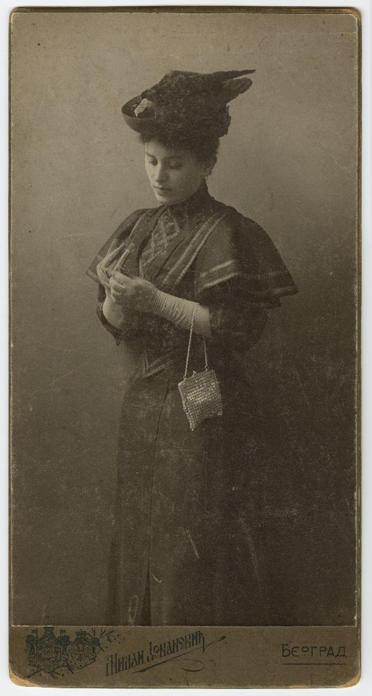 Studio portrait of actress Coca, © Museum of Theater Art of Serbia