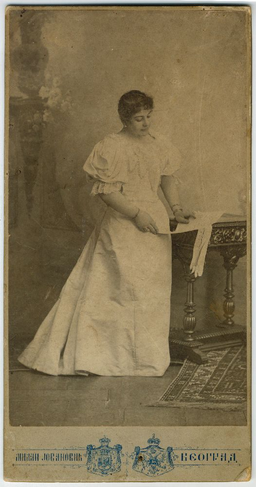 Studio portrait of actress Zorka Todosić in character as 'Marija', © Museum of Theater Art of Serbia