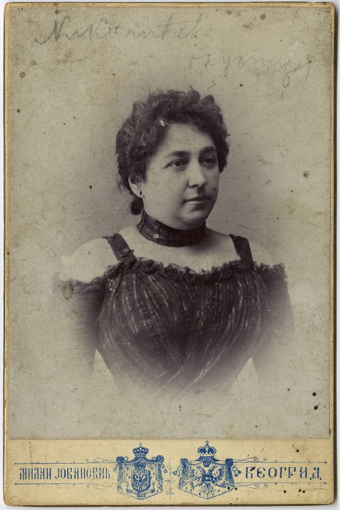 Studio portrait of stage actress Danica Nikolić, © Museum of Theater Art of Serbia