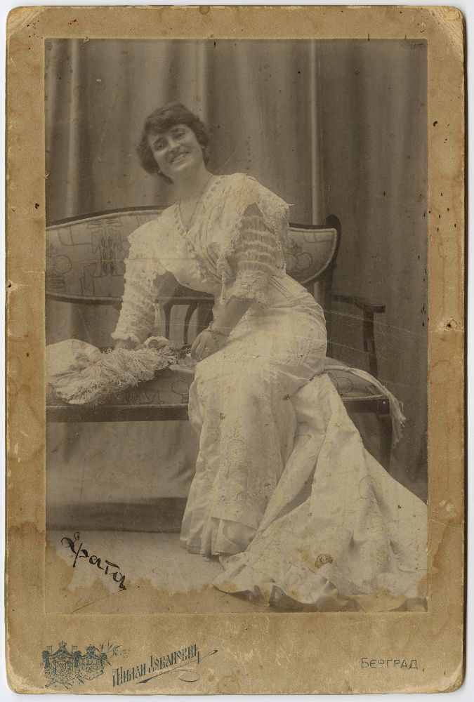Studio portrait of Draga Spasić, © Museum of Theater Art of Serbia