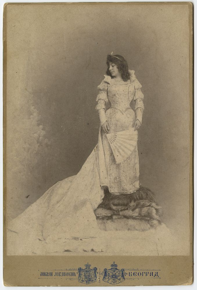 Studio portrait of actress Zorka Todosić in character as 'Bettina', the mascot, © Museum of Theater Art of Serbia