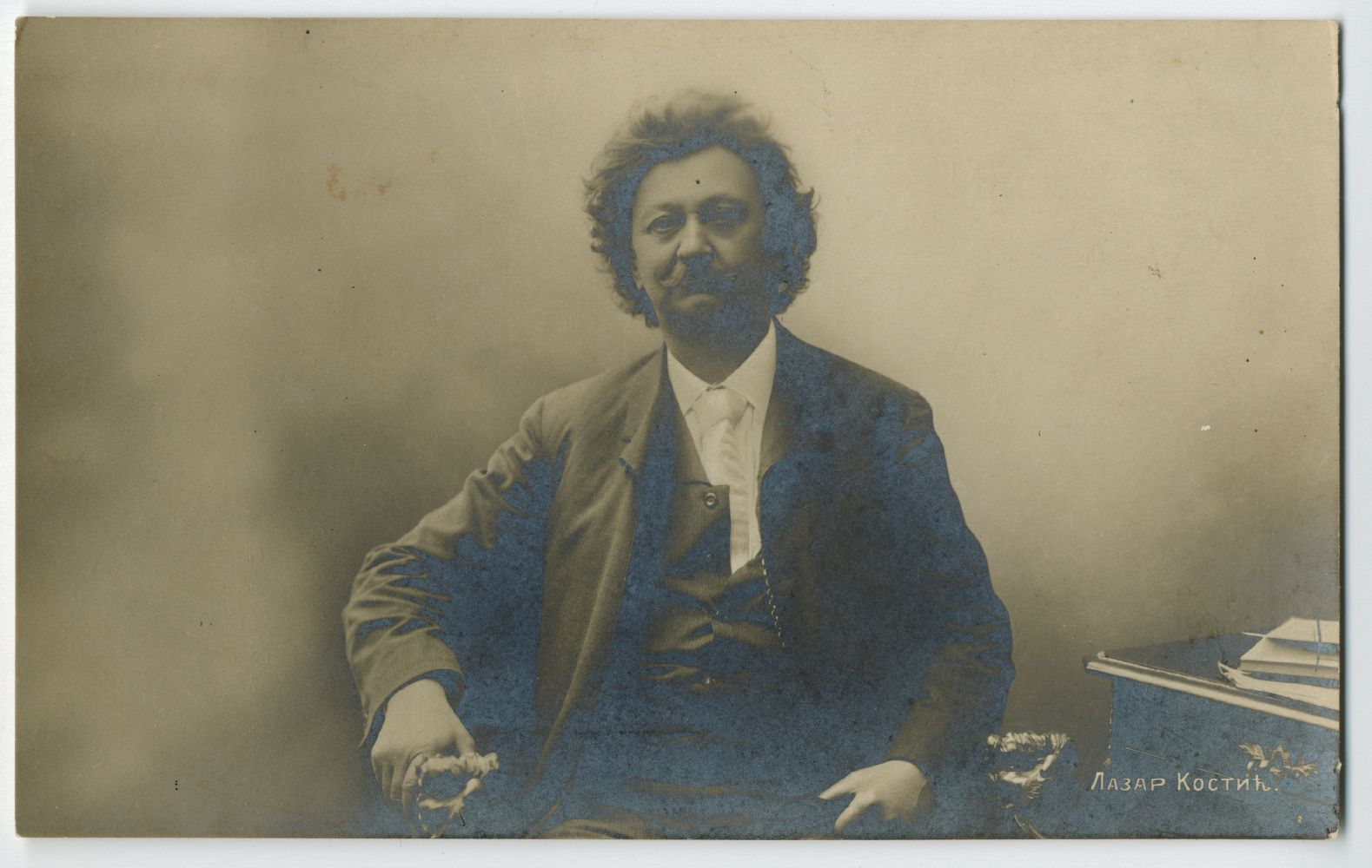 Studio portrait of poet Lazar Kostić, © Museum of Theater Art of Serbia