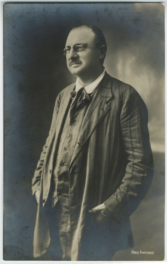 Studio portrait of poet Ivo Ćipiko, © Museum of Theater Art of Serbia