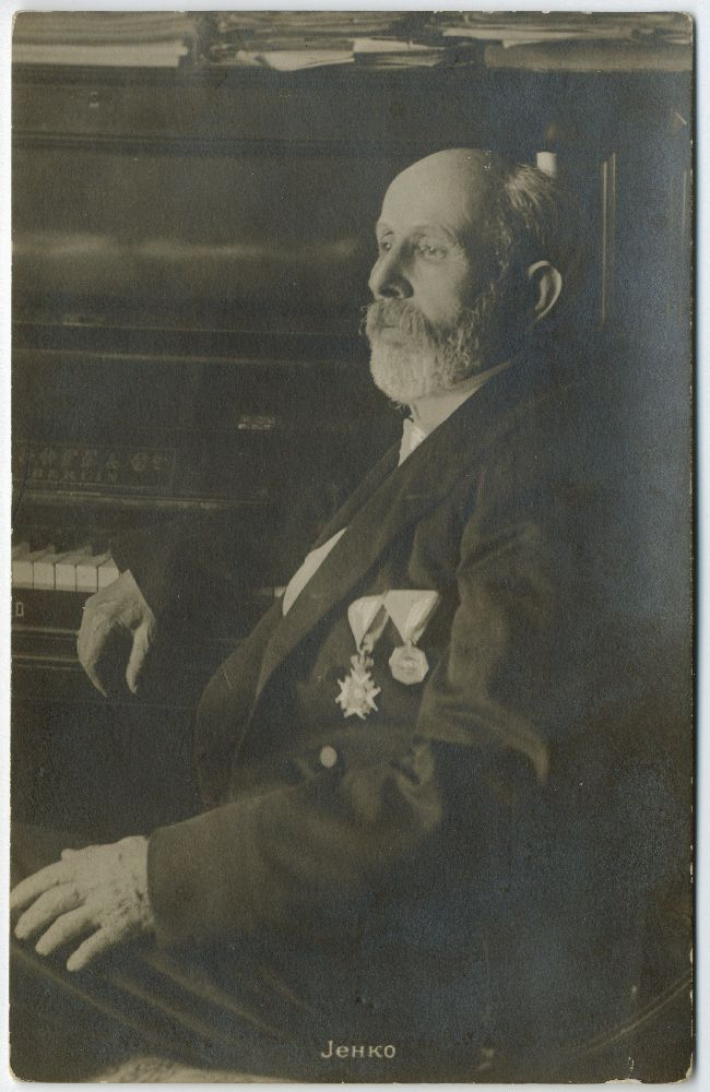Studio portrait of composer Davorin Jenko, © Museum of Theater Art of Serbia
