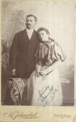 Studio portrait of Velislav and Leposava Vulović, © National Library of Serbia