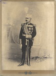 Studio portrait of the King's first aide-de-camp, General Laza Petrović, © National Library of Serbia