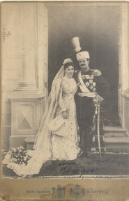 Official wedding portrait of King Aleksandar I of Serbia and his bride Queen Draga, © National Library of Serbia