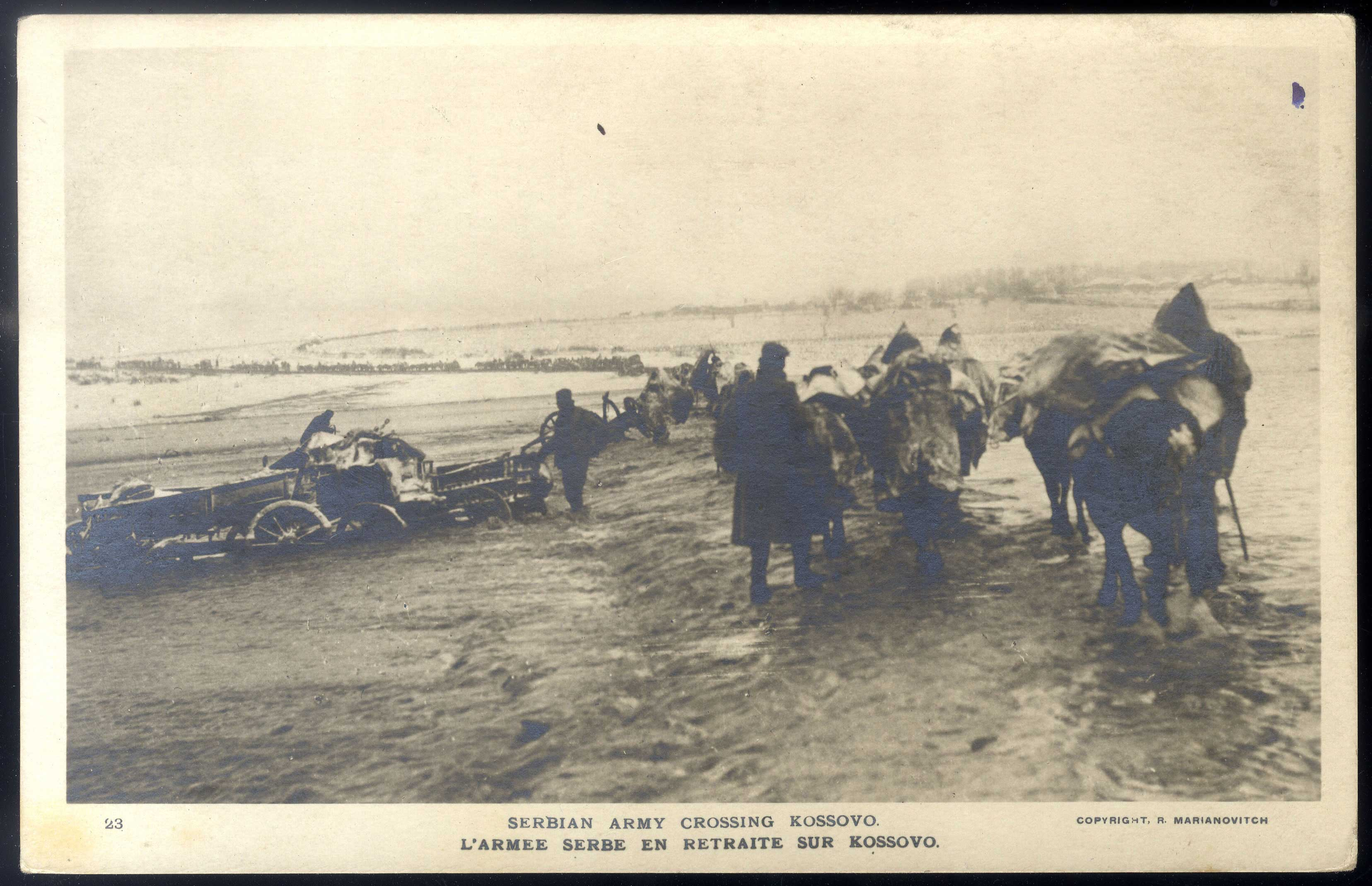 """L'armee serbe en retraite sur Kossovo"", © National Library of Serbia"