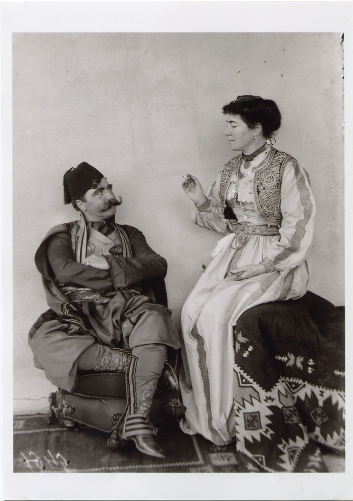 Portrait of a couple in an ornate urban dress, © The National Museum of Bosnia and Herzegovina