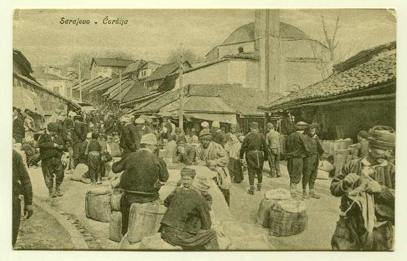 Selling wheat and corn in Baščaršija, © Museum of City of Sarajevo