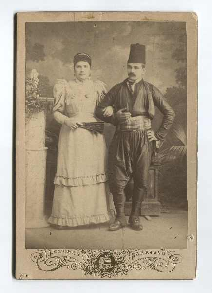 Studio portrait of merchant Manojlo Ilić with his wife, © The Historical Archive of Sarajevo
