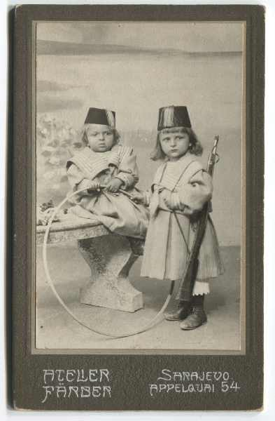 Studio portrait of two children, © The Historical Archive of Sarajevo