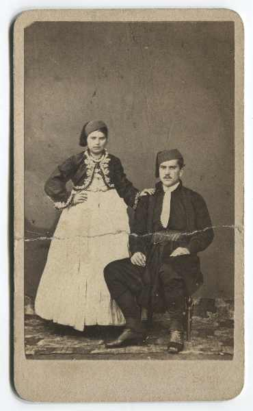 Studio portrait of a couple, © The Historical Archive of Sarajevo