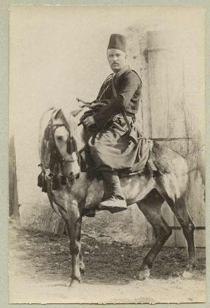 Man in traditional costume sitting on a horse, © The Austrian Museum of Folk Life and Folk Art