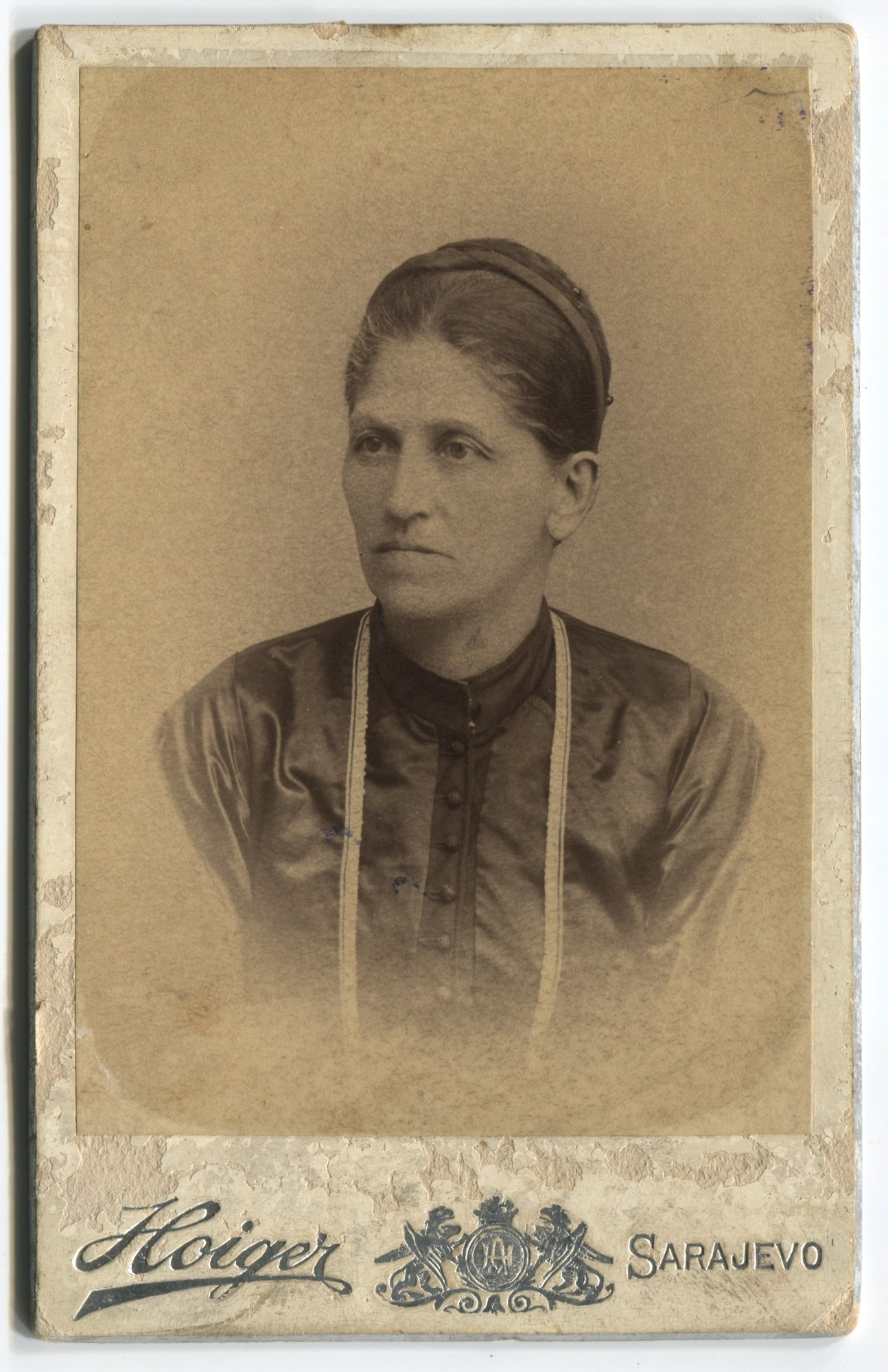 Studio portrait of Staka Odavić, © The Historical Archive of Sarajevo