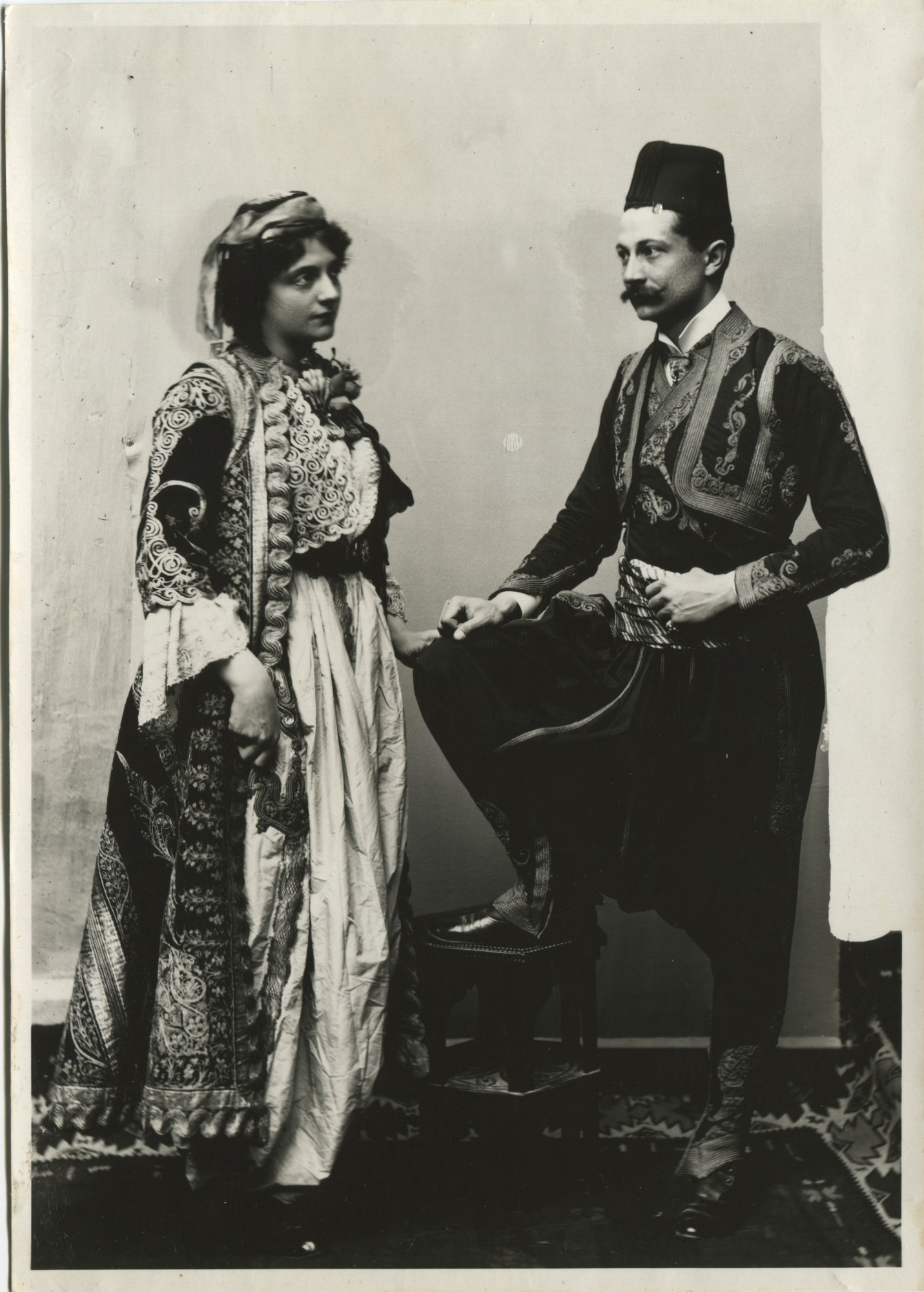 Portrait of a couple wearing Bey's costumes, © The Historical Archive of Sarajevo