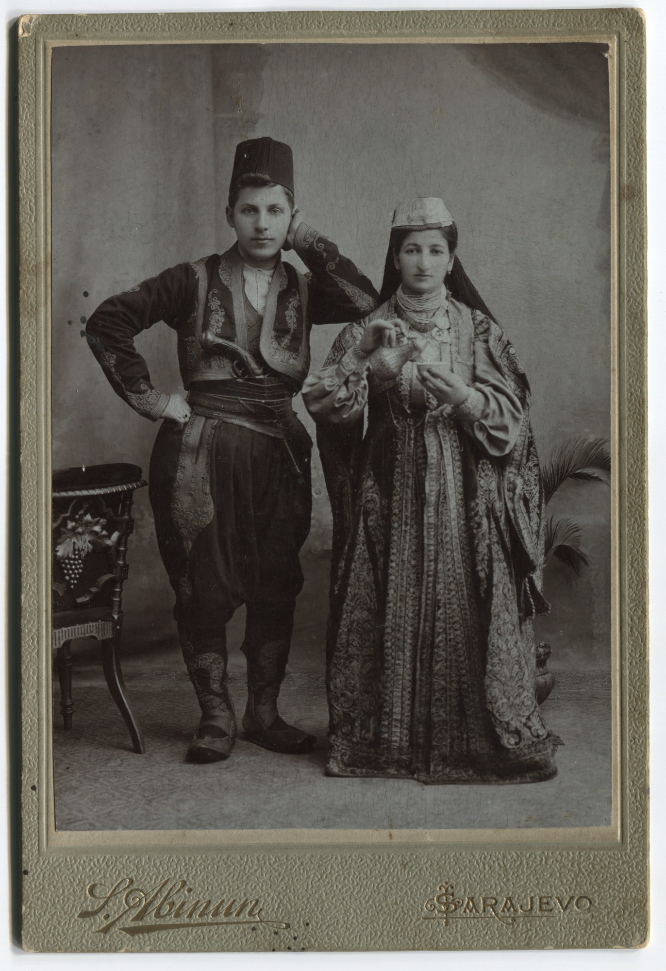 Studio portrait of a woman and a man, © The Historical Archive of Sarajevo